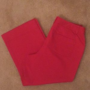 👖Charter Club Red Capris - Size 8